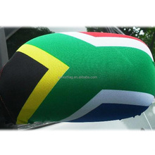 2018 Full logo printing side flags South Africa country car mirror cover