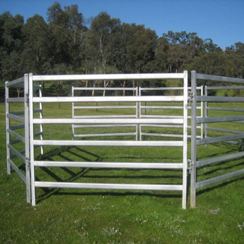 Australia standard Oval Rail Cattle Yard Panels,cheap cattle panels for sale