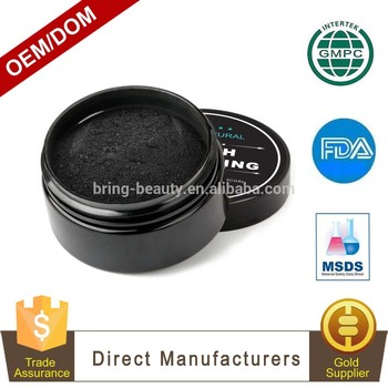 Private Label Food Grade Organic Coconut Shell Activated Charcoal Teeth Whitening Powder for Teeth Whitening