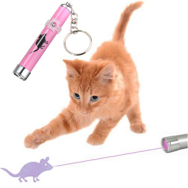 Pets LED Laser Pointer light Pen Laser Toys Portable Creative Funny Pet Cat Toys With Bright Animation Mouse Shadow