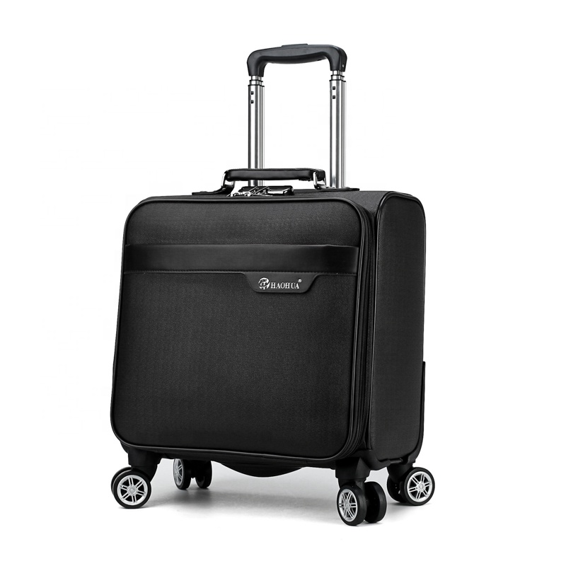 Gear Up New unique 4 wheels carry-on PU traveling luggage roller bag