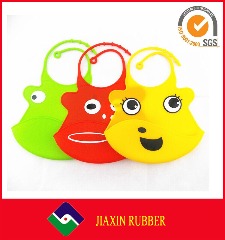 Waterproof Washable Customized FDA Eco Friendly Plastic Silicone Rubber baby bibs