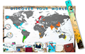 Scrape Map World Map Personalized Scrape off XL Size Unique and Large World Map Poster with a Layer AMA-16