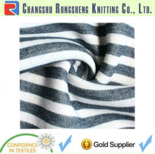 navy cotton stripe knit fabric