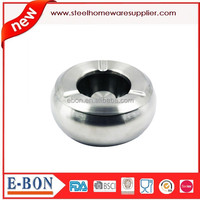 Drum-Shaped Stainless Steel Ashtray