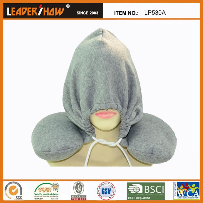 spandex material solid hooded neck cushion pillow