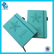 2017 Custom notebook with embossed logo pu notebook