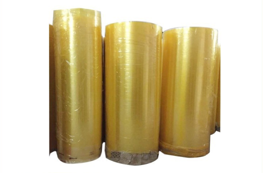 China supplier 1280mm*4000m yellowish adhesive packing bopp jumbo roll tape