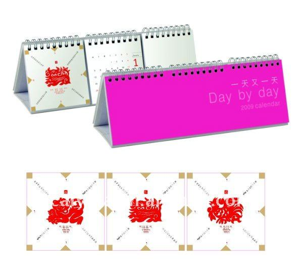 new attractive desktop calendar printing 2012 with spiral binding