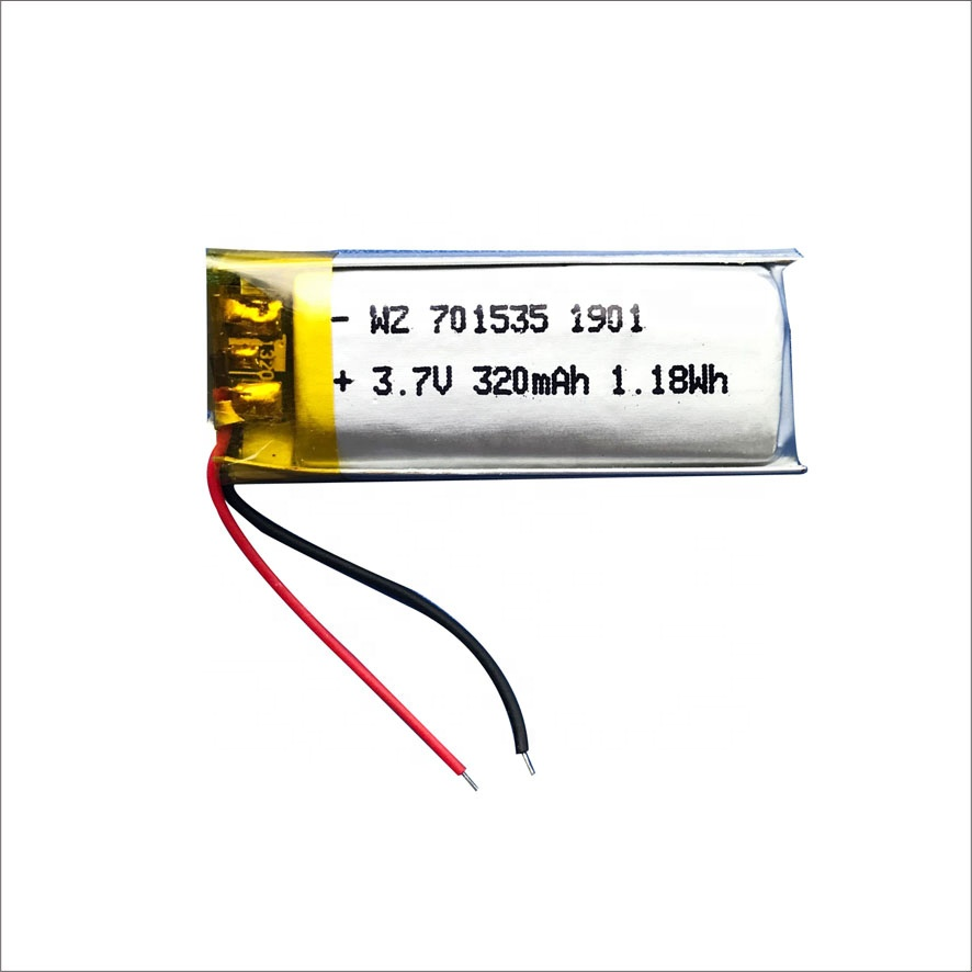 Lithium <strong>Battery</strong> 3.7V 701535 320mah Rechargeable <strong>Battery</strong> for BT Keyboard with CE RoHS MSDS UN38.3 LED Light <strong>Battery</strong>