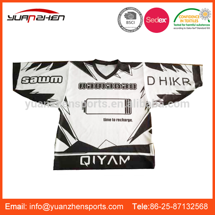 YuanZhen-Made in china cheap coloful apparel ice hockey jersey