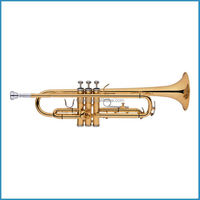 American style trumpet Bb key, cheap trumpet, gold trumpet
