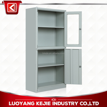 Commercial Unassembled Office Furniture Up Glass Door Stainless Steel Master File Cabinets