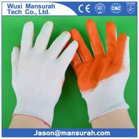 pvc dots coated safety cotton gloves