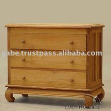 3 STRAIGHT DRAWERS OPIUM CHEST
