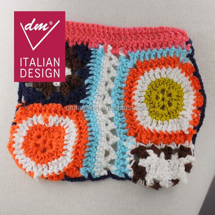 New Design Handmade Ethnic Crochet Flower Applique Patch - Buy Crochet ...