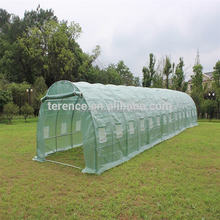 Quick delivery commercial glass tennel grenn house multi-span greenhouse siding