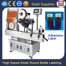 Low Price Auto High Speed 10ml Small Round Glass Bottle Packaging Sticker Labeling Machine