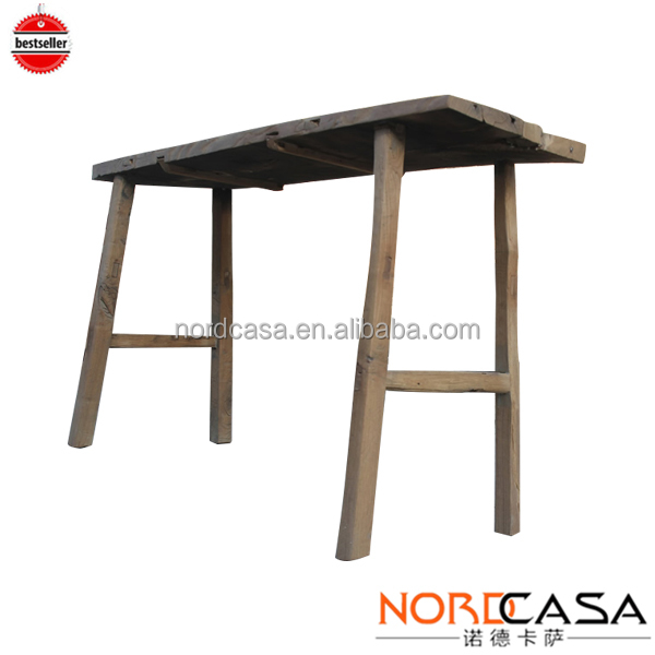 chinese traditional rustic reclaimed wood dining table/solid pine wood dining table