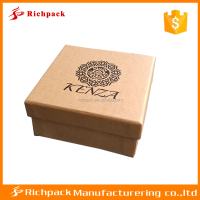Custom logo printed recycled cardboard luxury 2 piece gift box packaging, kraft paper box,