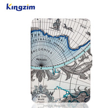 6 Inch Fashion Map Pattern Leather Hot Cover for Kindle Paperwhite Case