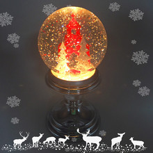 Led Lighted Christmas Glitter Crystal Snow Globe Water Globe Ball