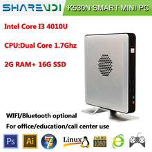 Make in china core i3 4g ram cool fan pc mini industrial pc