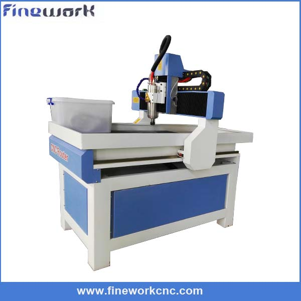 Super precision FW mini cnc lathe machine qili 6090 handrail advertising machine