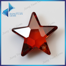 Decoration Gem Deep Red CZ Stone Star Shape Stone