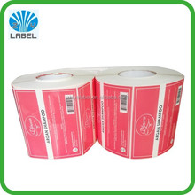 Easy Peel Off Packaging Removable Adhesive Label , Plastic White PE Roll Packaging Removable Adhesive Label