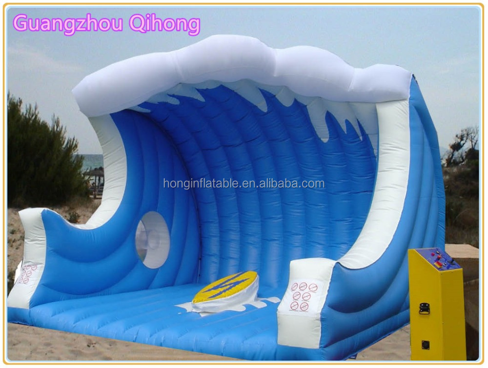 Cheap inflatable sport game inflatable surf simulator with mattress, mechanical surfboard