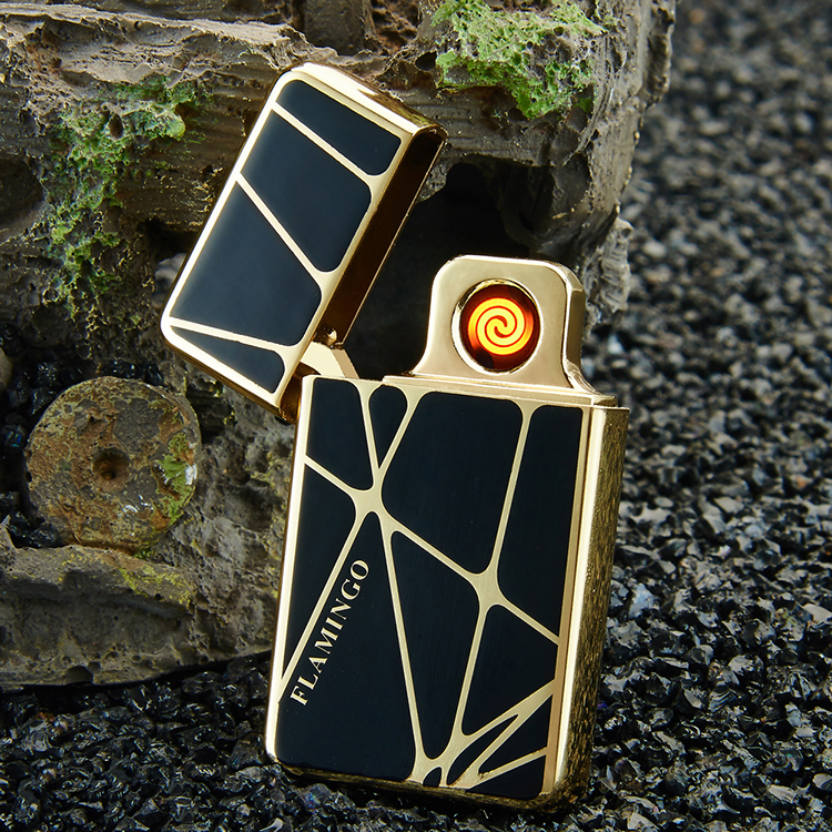 USB Metal Lighter, Flameless Cigarette Rechargeable Electronic Usb Lighter With Gift Box