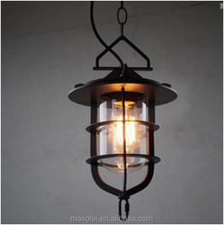 Decorative Loft Iron Hanging Light Industrial Fishman Ceing Lamp for Home/Restaurant/Bar