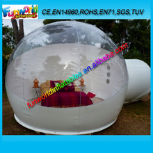 2014 Fashion & Popular Inflatable Clear Camping Tent, Clear Bubble Room For Sale (FUNTENT1-069)