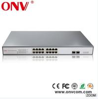 High quality 16 Port Fast Ethernet POE Switch High Performance gigabit switch RJ45 Network/ LAN Switcher 48V 10/100Mbps wholesal