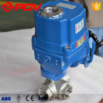 explosion-proof motorized npt threaded 40mm 3 way ball valve