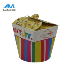 Custom Design Rigid Paper Cosmetic Boxes Popcorn Carton Gift Box