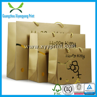 High Quality Gold Stamping Luxury Shopping Paper Bag, Custom Printed Kraft Paper Shopping Bag
