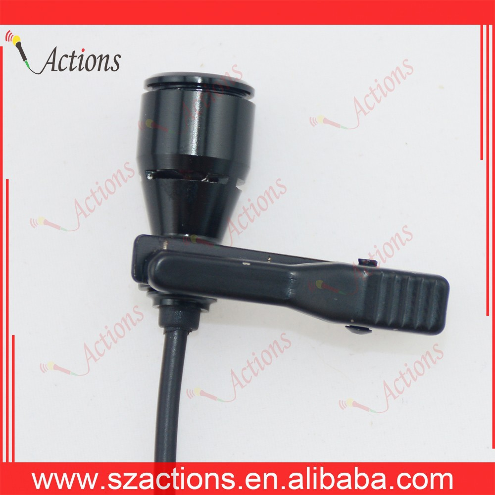 Professional high quality super sensitive Lavalier mic dancing and singing with a microphone