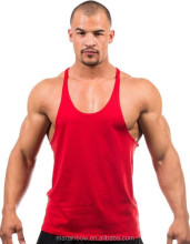 mens 100% cotton y back gym stringers mens gym fitness clothing men's blank stringer y back cotton tank top