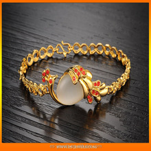 18K gold plated bracelets inlaid agate body jewelry exporter in China