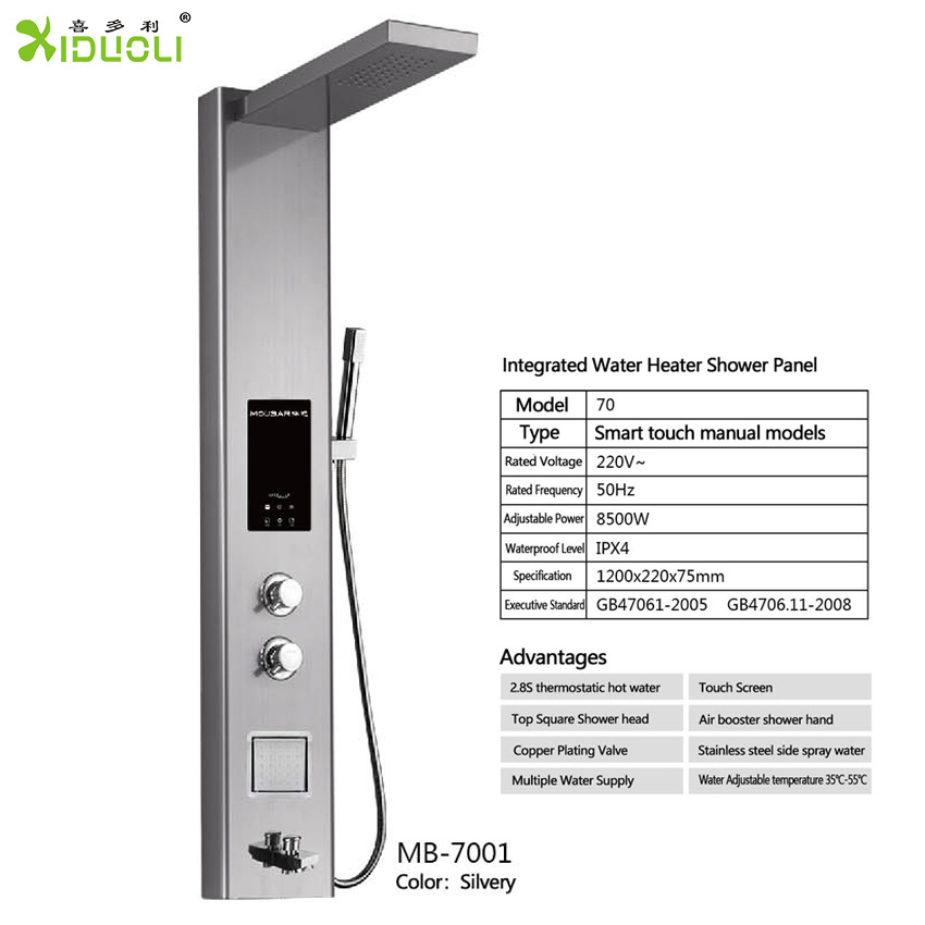 304 Stainless Steel 2 Body Massage Sprays and 3-Function Hand Shower Bathroom Shower Panel Tower System