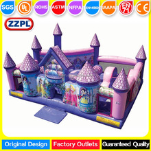 ZZPL Impressive Princess Palace for kids, Cheap Inflatable Toddler Playground for rental, Mini Inflatable Fun City