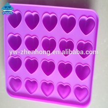 Wholesalers 20 Cute Heart Shape Silicon Cake Mold