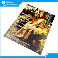 print full color perfect binding design magazine