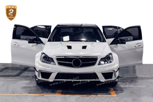 High quality 4 door C Class W204 Car parts For ben z fiber glass Body Kit