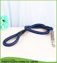 Spring deduction pet leash dog collar