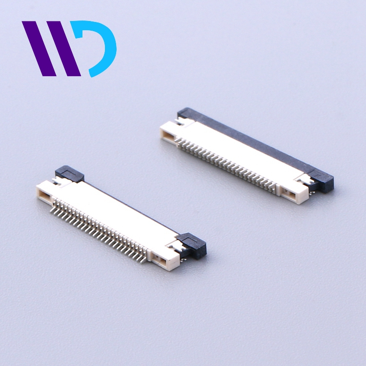 R/A SMT up contact 0.5mm pitch 10 pins wire connector