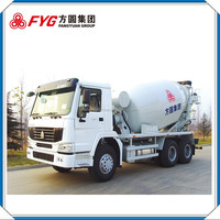 Hiway china supplier self loading concrete mixer truck FYG5257GJBC/12