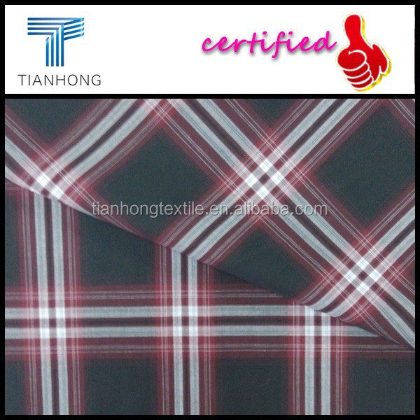 2015 gingham 100% cotton yarn dyed check fabric for garment